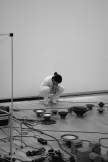 Cyborg in the making, performance by Maria Nadia, co-directed by visual artist Sofie Højgaard Hansen. Ph by Pete Lamberto