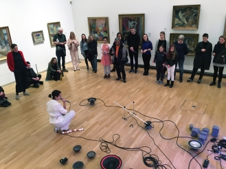 Cyborg in the making, performance by Maria Nadia, co-directed by visual artist Sofie Højgaard Hansen. Ph by Paola Paleari